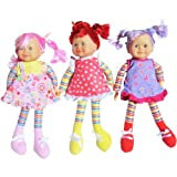 "Ultimategifts Soft Doll For Girls (16"") - 3 Assorted Styles (One Doll Per Order) - Great Easter Basket Toys Stuffers..."