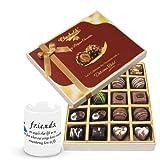 Valentine Chocholik Belgium Chocolates - Friendship Mug With Dark And Milk Chocolate Box With Friendship Mug