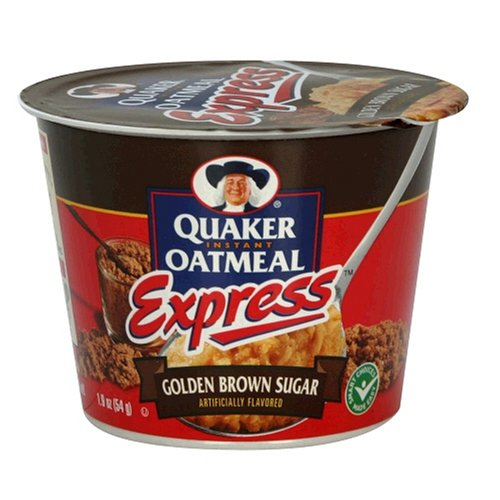 Quaker Instant Oatmeal Express Golden Brown Sugar, 1.9-Ounce Cups (Pack of 24)