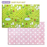 Baby Care Play Mat (Large, CountryTown - Pink)