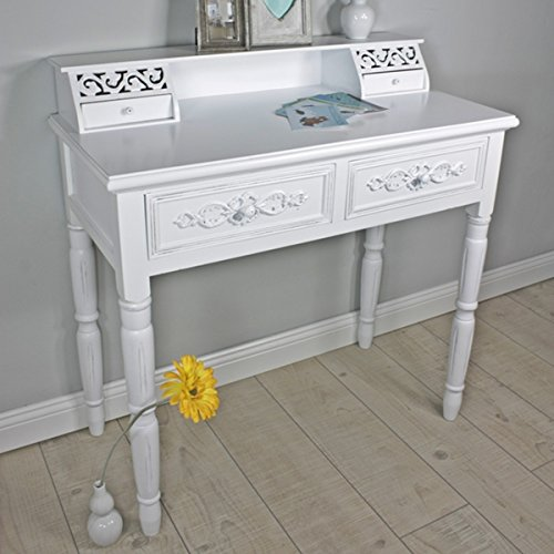wohnzimmer tische ikea:elbmbel-Sekretr-in-wei-aus-Holz-im-Landhaus-Stil-Schreibtisch