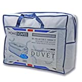 Homescapes - Luxury Duck Feather and Down Duvet - 15 TOG - DOUBLE - 100% Cotton Anti Dust Mite & Down Proof Fabric - Anti allergen - Box Baffle Construction - Washable at Home Rangeby Homescapes