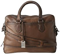 Hot Sale Frye James Work Zip Tumbled Full Grain DB116 Briefcase,Taupe,One Size