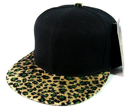 plain-leopard-cheetah-snapback-hats-fashion-black-olive-green