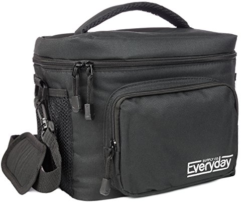 Insulated Lunch Bag (Black) - Freezer Safe, Nylon Durability, Zip Closure - Cooler Lunch Bag for Men, Women and Kids - Locks in Heat & Cold (Insulated Lunch Bag Black compare prices)