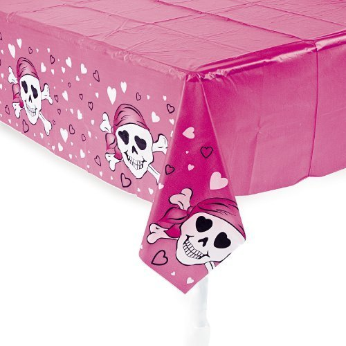 Fun Express Pink Pirate Girl Table Cover - 1