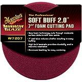 """Meguiar's W7207 Mirror Glaze Professional Soft Buff 2.0 7"""" Foam Cutting Pad"""