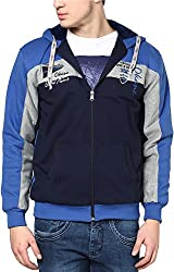 Okane Men's Regular Fit Cotton Sweatshirt (21860 A-F M, Blue, M)