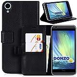 DONZO Wallet Structure Tasche für HTC Desire 820 Schwarz