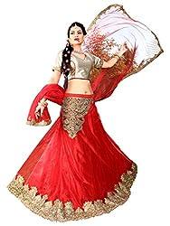 Silvermoon women's Net Embroidered heavy lehenga choli-sm_NMNZA324_Red_free size