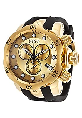 Invicta Men's 16985 Venom Quartz Chronograph Gold Dial Watch