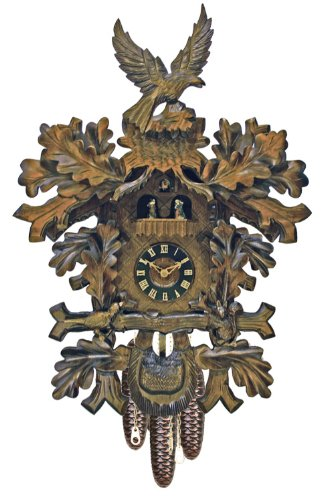 River City Clocks MD817-23 Eight Day Musical Cuckoo Clock with Dancers And Hand-Carved Squirrel, Bird, And Eagle, 23-Inch Tall
