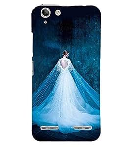 Girl with Shining white Dress 3D Hard Polycarbonate Designer Back Case Cover for Lenovo Vibe K5 Plus :: Lenovo Vibe K5 Plus A6020a46 :: Lenovo Vibe K5 Plus Lemon 3