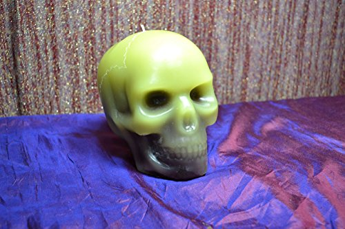 6 inch (3lb) Zombie Apocalypse bleeding Skull Candle, Scented with Dragons Blood
