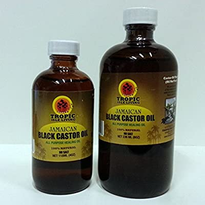 [tropic Isle Living] Jamaican Black Castor Oil Healing 100% Natural 4oz-8oz