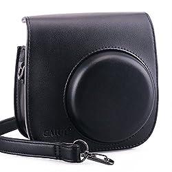 NodArtisan Black PU Leather fuji mini case for Fujifilm Instax Mini 8 Case bag