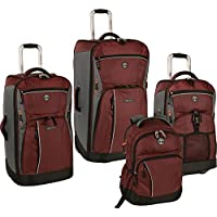 Timberland Danvers River 4-Piece Luggage Set - Chocolate Truffle/Steel Grey