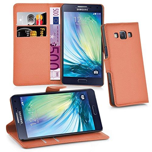 Cadorabo-Book-Style-Hlle-fr-Samsung-Galaxy-A5-SM-A500F-Modell-2015-Case-Cover-Schutzhlle-Etui-Tasche-mit-Standfunktion-und-Kartenfach