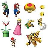 Super Mario Bros Room Decor - Removable Wall Decorations