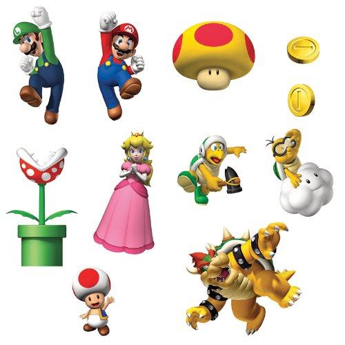Party Destination 164716 Super Mario Bros. Removable Wall Decorations