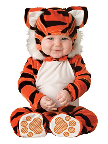 Lil Characters Unisex-baby Newborn Tiger Costume, Orange/Black/White, 6-12 months