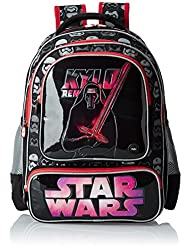 Star Wars Polyester 18 Inch Black And Red Children's Backpack (MBE-WDP0518)