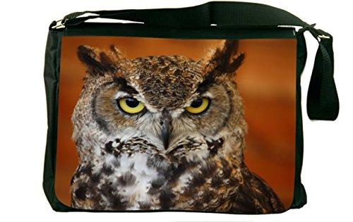 Rikki Knighttm Barn Owl Close-Up Messenger Bag - - Shoulder Bag - School Bag For School Or Work - With Matching Coin Purse