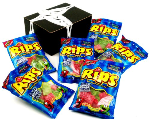 Rips Strawberry & Green Apple Bite-Size Licorice Pieces, 4 Oz Bags In A Gift Box (Pack Of 6) front-578426