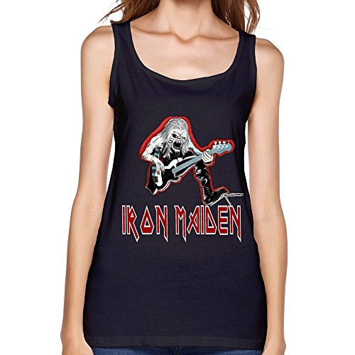 JJTC Iron Maiden Tour 2015 Fan Logo Women Tank Top Black (Iron Maiden Life After Death compare prices)