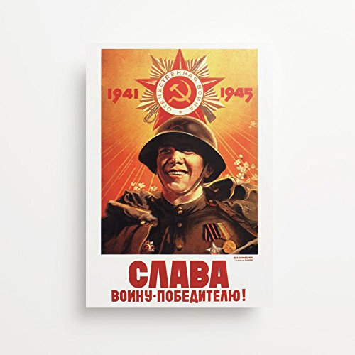 Glory To The Victorious Warrior Soviet Propaganda Stampe Giclée