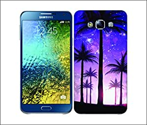 Galaxy Printed 2897 Summer Silhoustee Purple Hard Cover for Samsung Core Prime