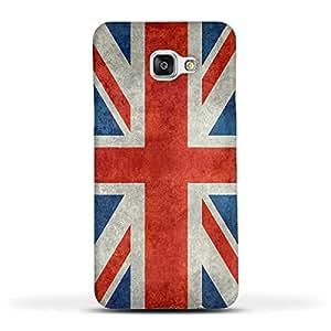 FUNKYLICIOUS Galaxy A7 2016 Back Cover Union Jack flag Retro Style Design (Multicolour)