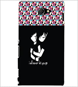PrintDhaba Quote D-5736 Back Case Cover for SONY XPERIA M2 (Multi-Coloured)