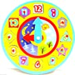 Childrens Wooden Shape Sorting Clock Puzzle Learn to Tell The Time Toy Learning Clock