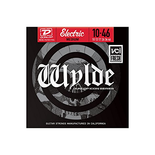 Dunlop Zwn1046 Zakk Wylde Medium Nickel Wound Electric Guitar 6-String Set, .010-.046 Gauge