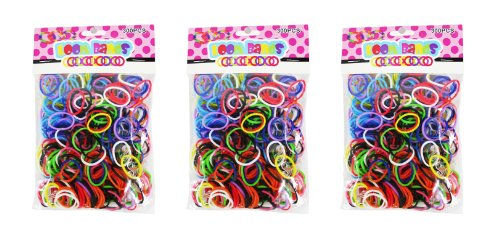 Loom Bands Assorted Colors Bands, 3-Pack