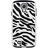 Leegoal(TM) Black/White Stylish Zebra Combo PC and Silicone Hybrid Case Cover Fit for Samsung Galaxy SIV S4 i9500 With Accessories Sreen Protector,Anti Dust Plug