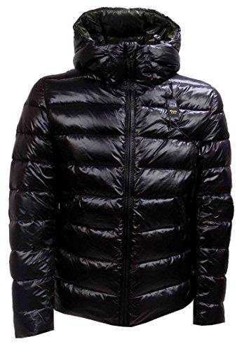 Giubbotto Uomo BLAUER 16WBLUC03062 004288 Nylon Piumino corto con cappuccio Autunno Inverno 2016 Nero XL