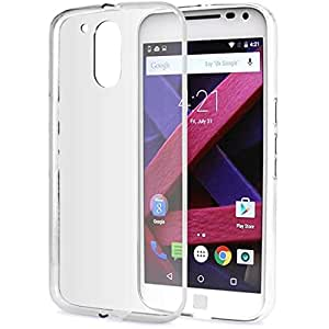 Scudomax Exclusive Soft Silicone TPU 0.3mm Transparent Clear Case Soft Back Case Cover For Moto G4 Play