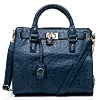 Noble Mount Temira Tote Handbag - Dark Blue