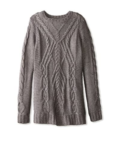 525 America Women's Traveling Cable Crew Sweater