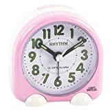 Rhythm Alarm Clk Oval Pink Beep/Snooze/Light