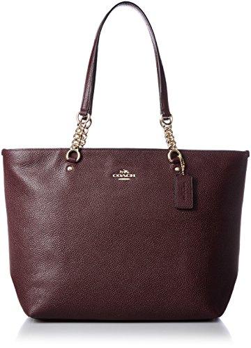 Borse Shopping Coach Donna Pelle Viola e Oro 36600LIOXB Viola 12x26.5x29.5 cm