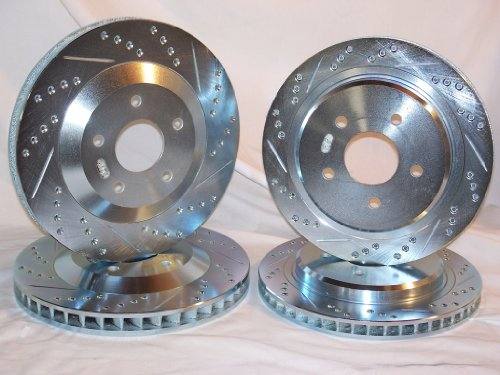 1997 1998 1999 2000 2001 2002 2003 2004 Chevrolet Corvette C5 Z06 Front & Rear Brake Discs +Ceramic Pads