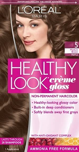 L'Oreal Paris Healthy Look Creme Gloss Color, Medium Brown/Truffle 5 (Pack of 3) by N'iceshop