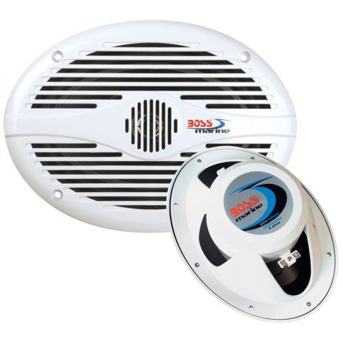 Boss Audio Mr690 White 6X9 Oval Speakers (Pair) Boss Audio Mr690 White 6X9 Oval