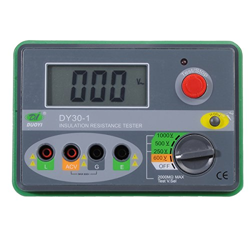 DY30-1 2.7Inch LCD 1000V Digital Insulation Resistance Tester (Potato Heater compare prices)
