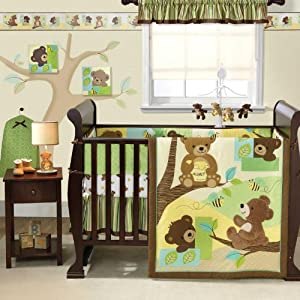 Amazon Com Honey Bear 4 Piece Bedding Set Crib Bedding