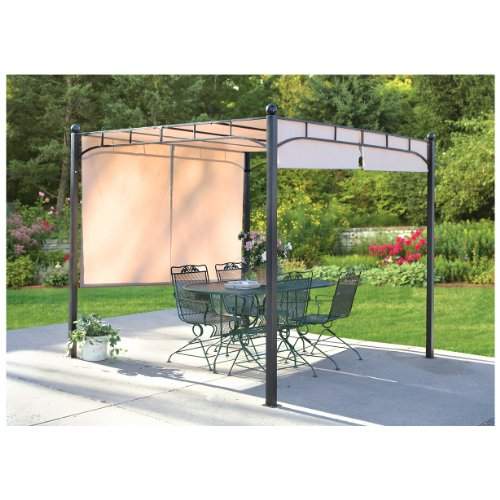 Shade For Sunny Backyard : CASTLECREEK Pergola with Adjustable Shade