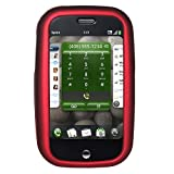 Amzer Rubberized Red Snap On Crystal Hard Case with Belt Clip for Palm Pre